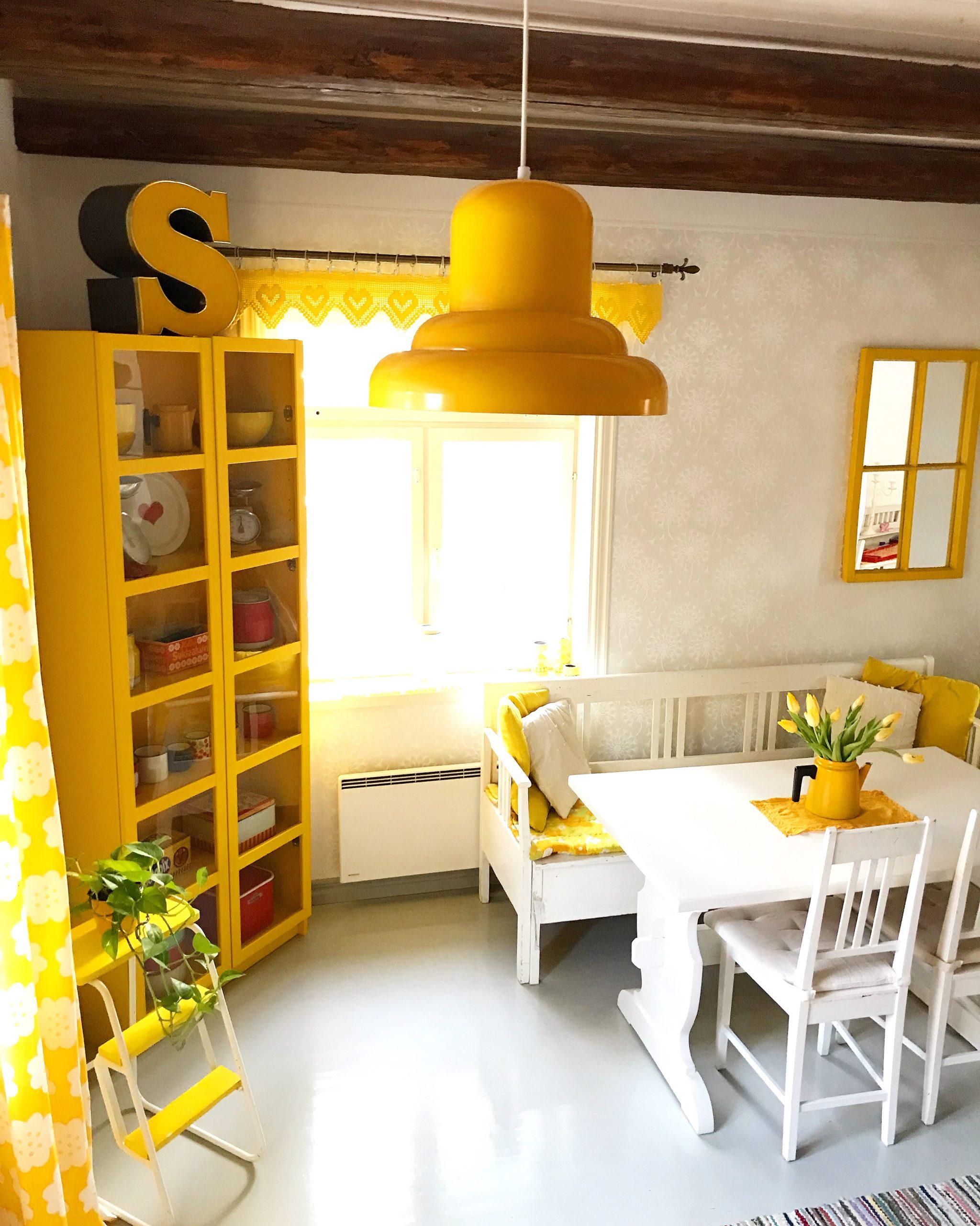 Elluyellow keltainen keittiö