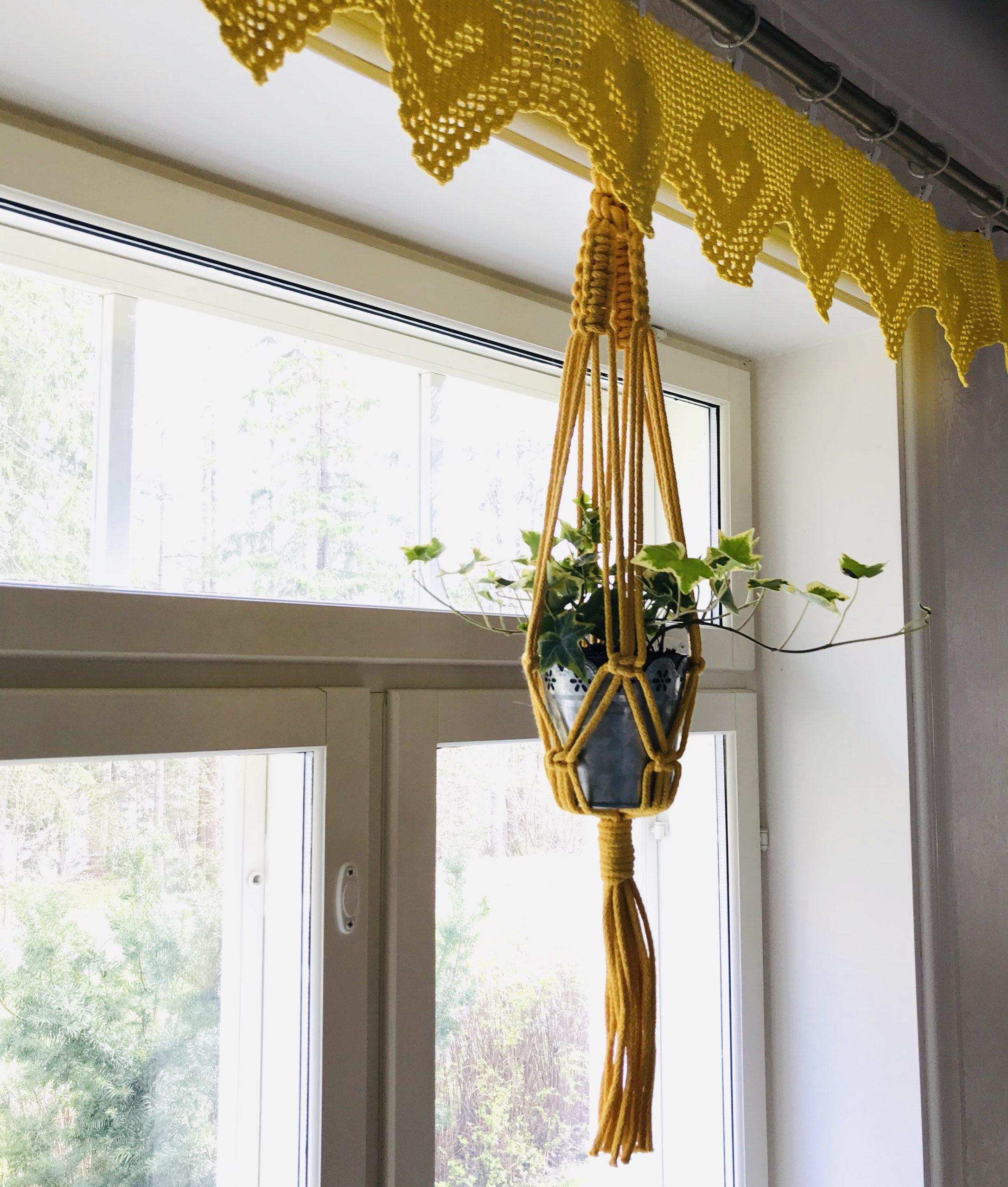 Elluyellow keltainen makramee käsityö