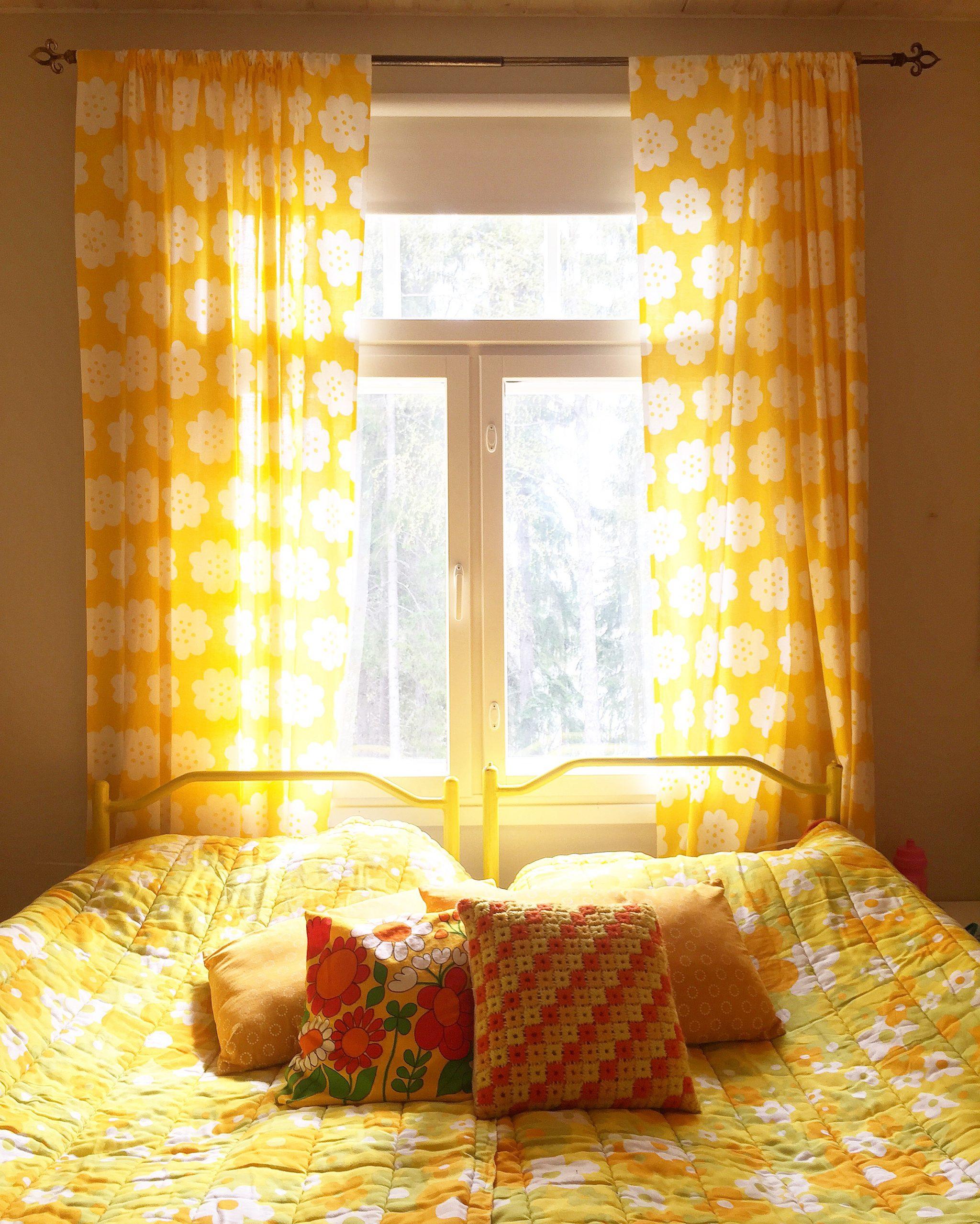 Elluyellow keltainen makuuhuone