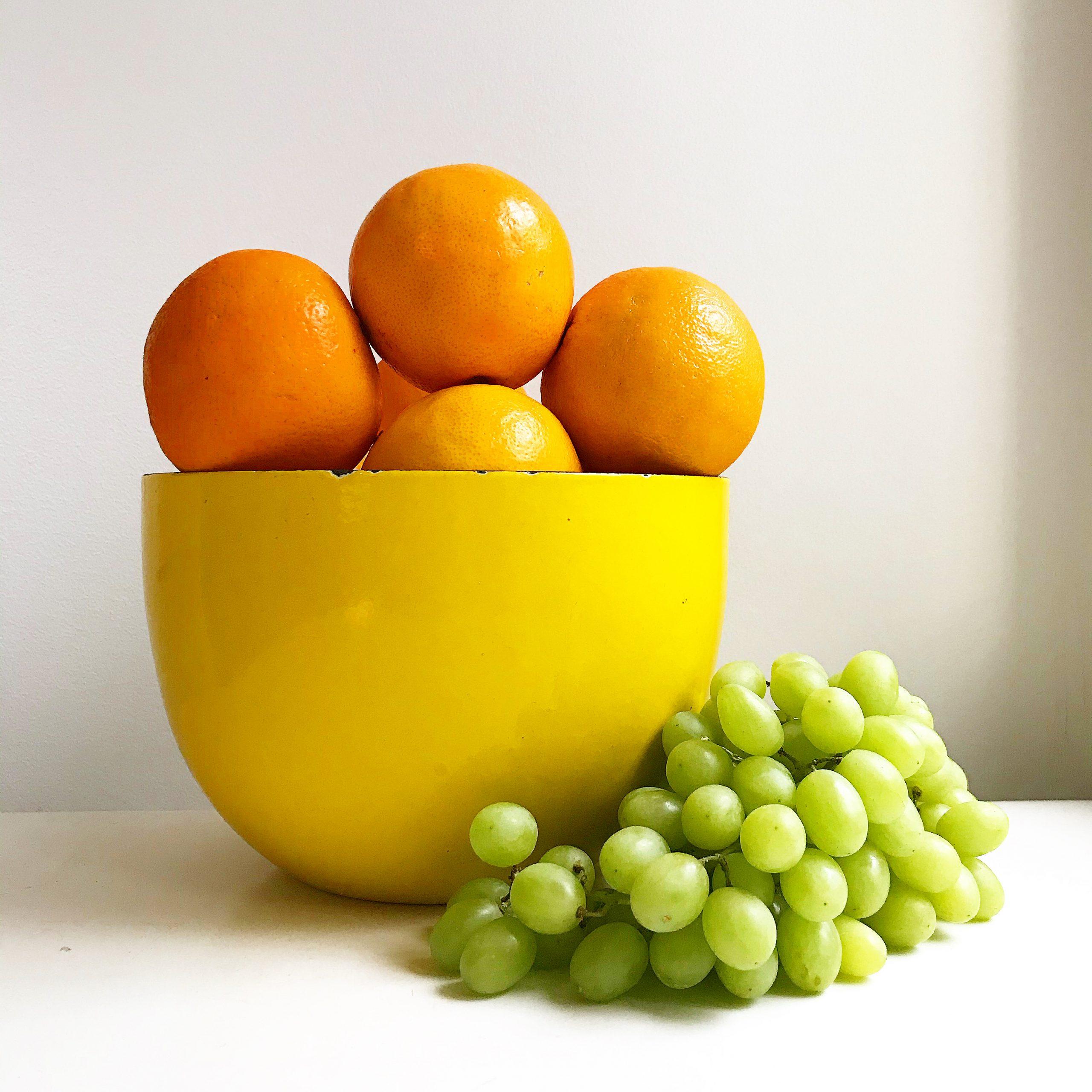 Elluyellow keltainen hedelmäkulho