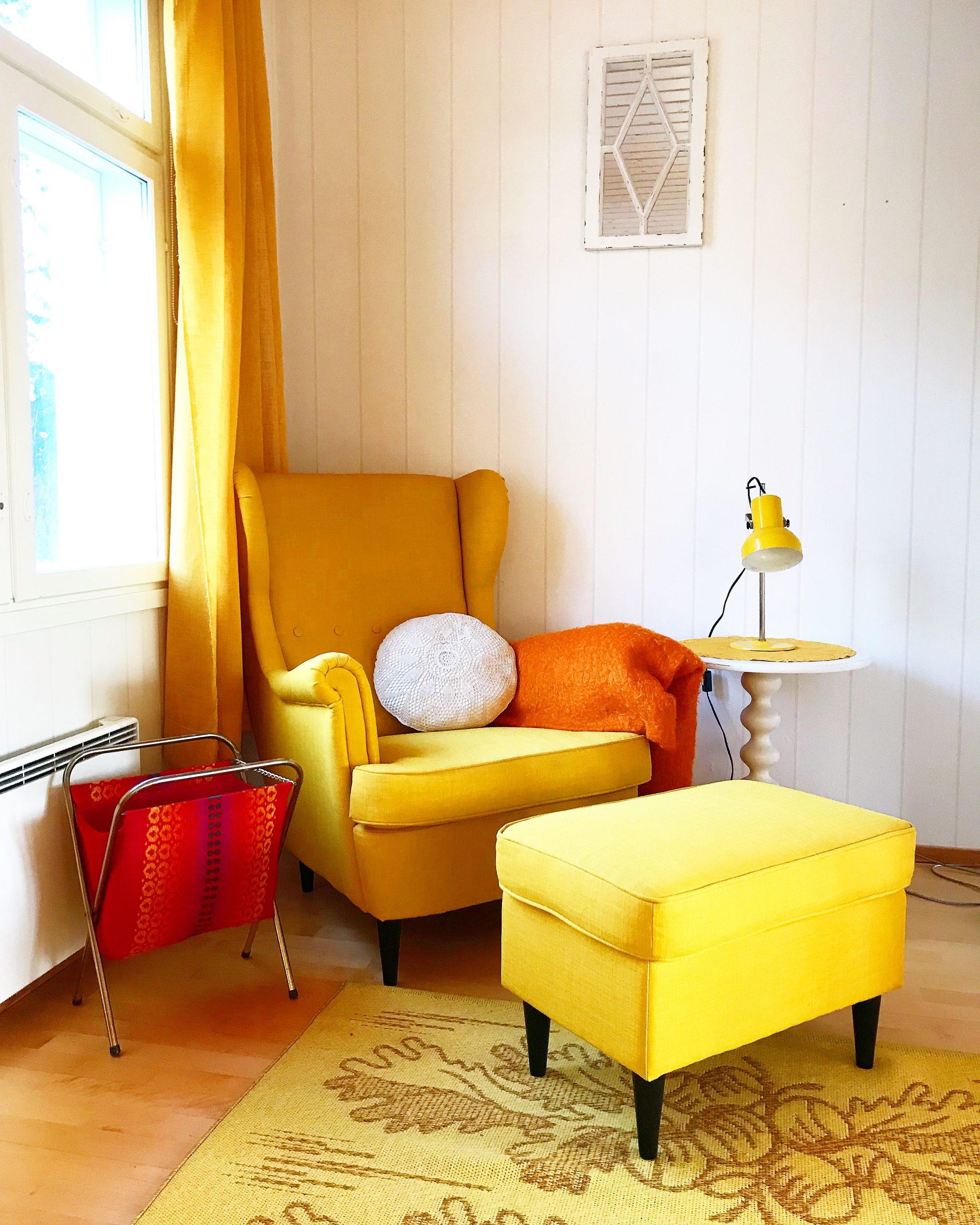Elluyellow keltainen nojatuoli