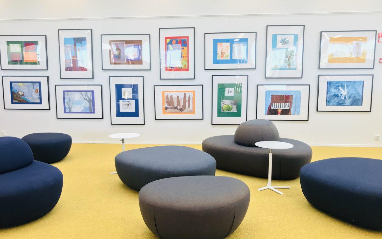 Elluyellow kirjasto- ja kulttuuritalo Virta Nokialla.