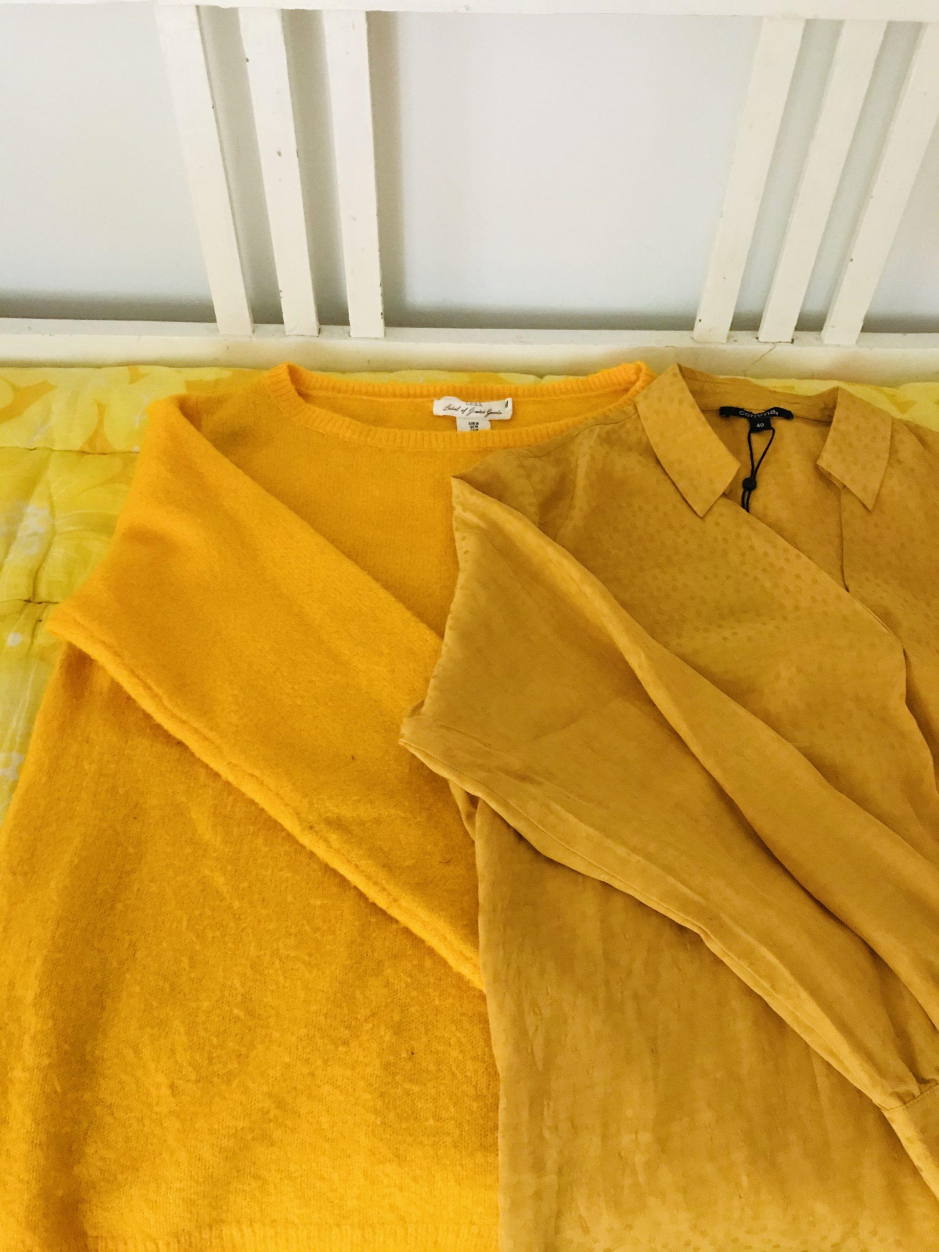 Elluyellow keltaiset kirppislöydöt , paidat