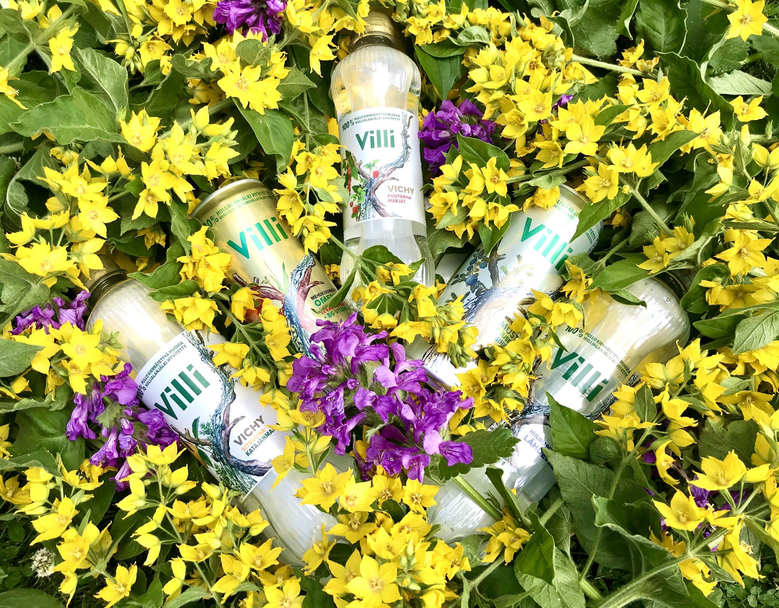 Elluyellow testaa ekologisia ja kotimaisia Villivesiä, värikäs kesäinen kukkakuva