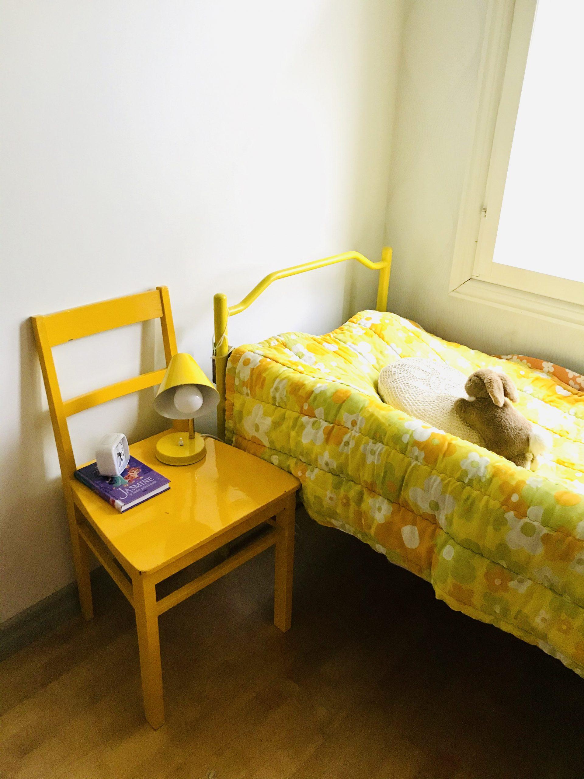 Elluyellow keltainen vintage lastenhuone