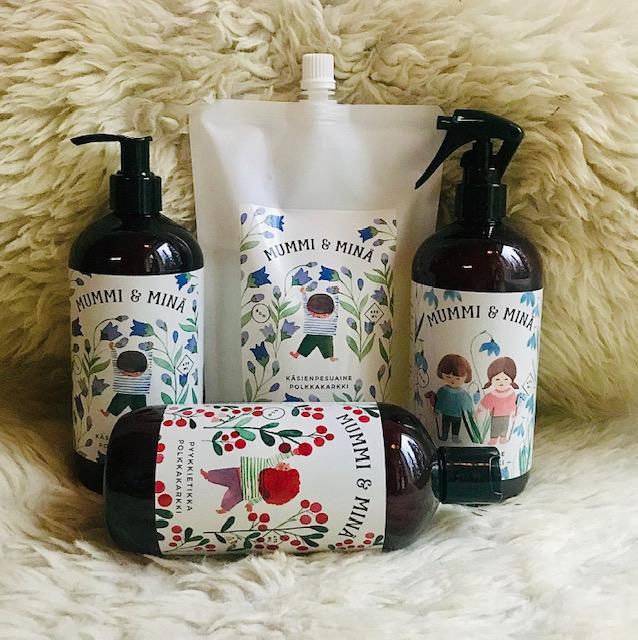 Elluyellow Hymyä ja hyvinvointia -joulukalenteri: Mummi ja Minä -tuotteet