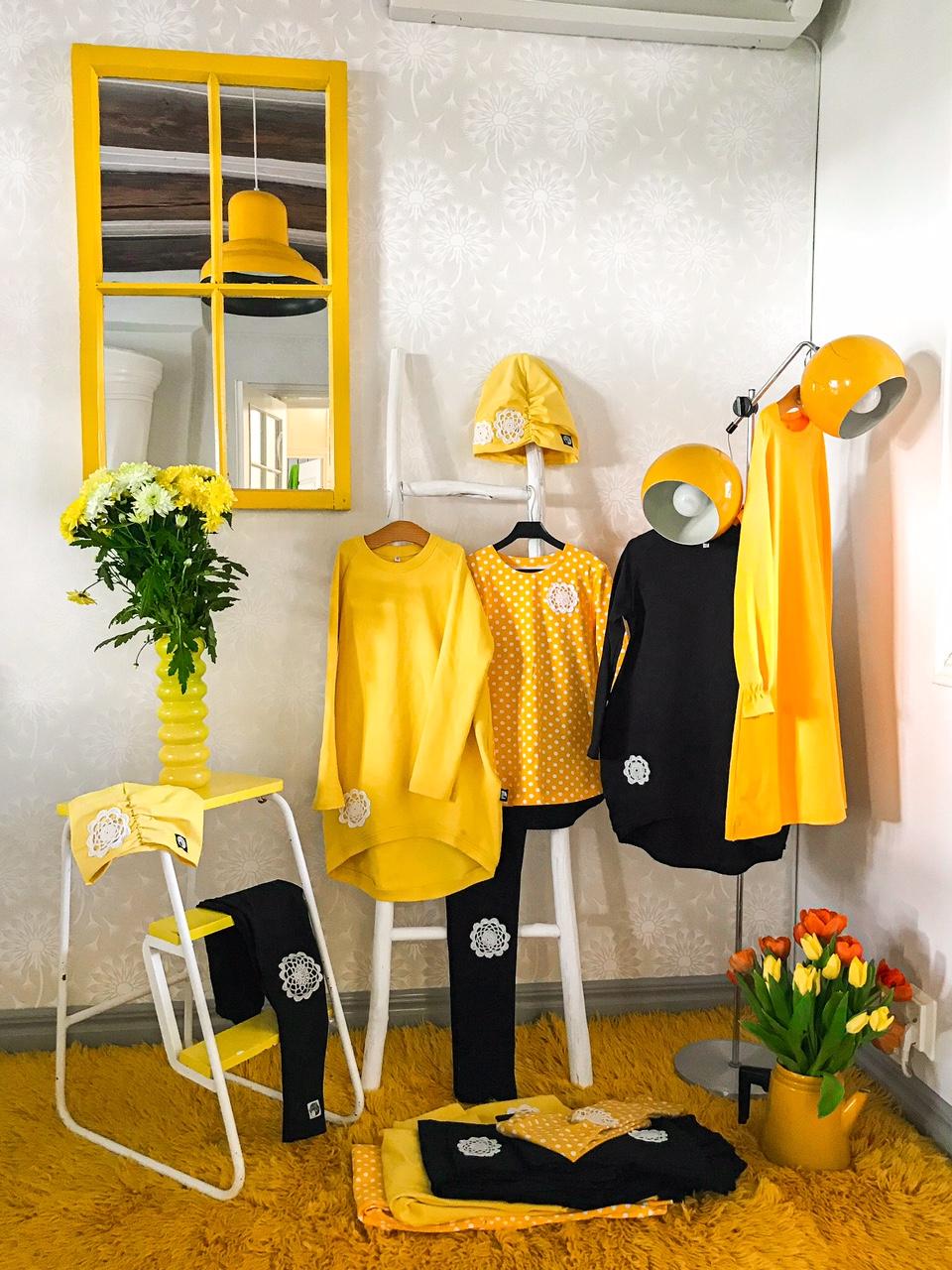 Elluyellow YellowQuu keltaiset vaatteet
