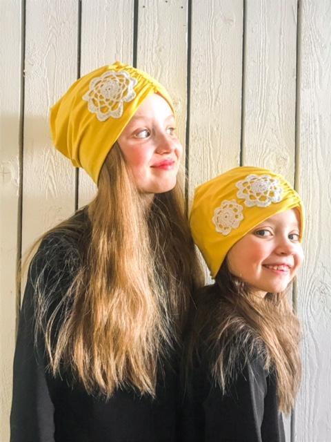YellowQuun lasten keltaiset pipot