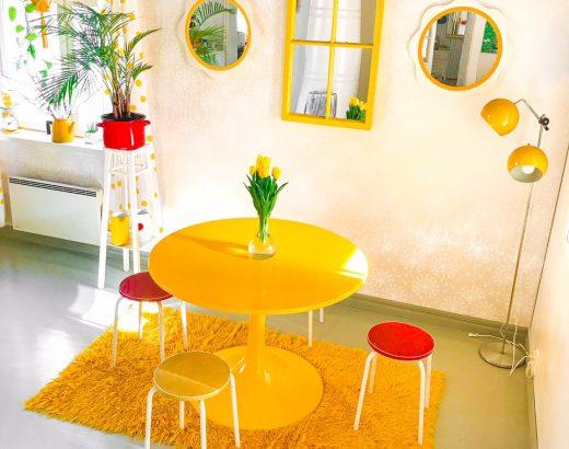 Elluyellow keltainen retrokeittiö